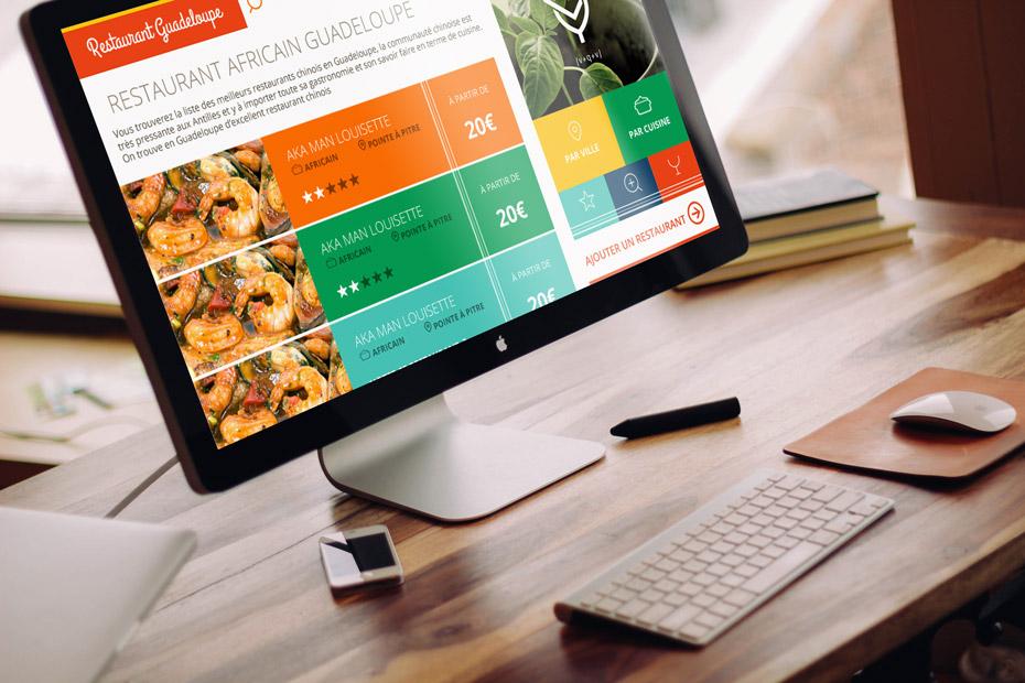 Restaurant guadeloupe, webdesign du site