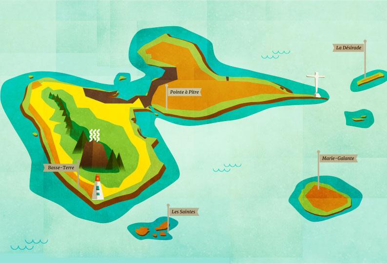 ONF – Carte des Forêts de Guadeloupe